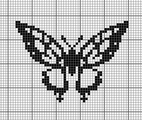 Схема для вышивки крестом монохром для начинающих 42