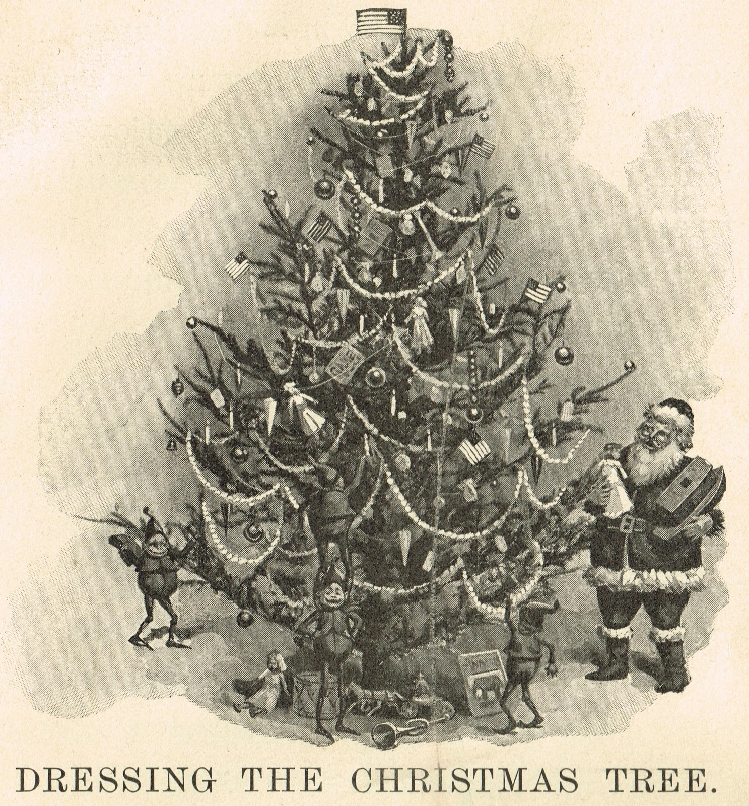 Antique Christmas Tree Printable Image - Knick of Time