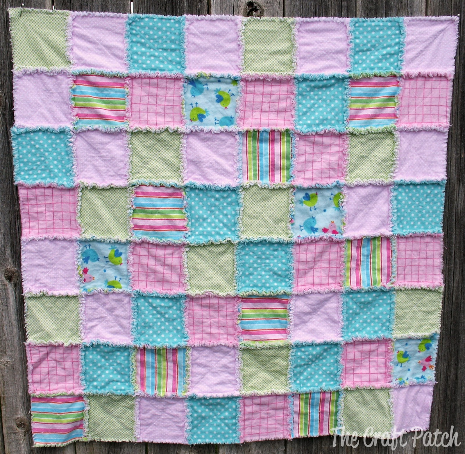 Rag Quilt Pattern For Beginners : The Craft Patch: Making A Rag Quilt (A Great Baby Gift)