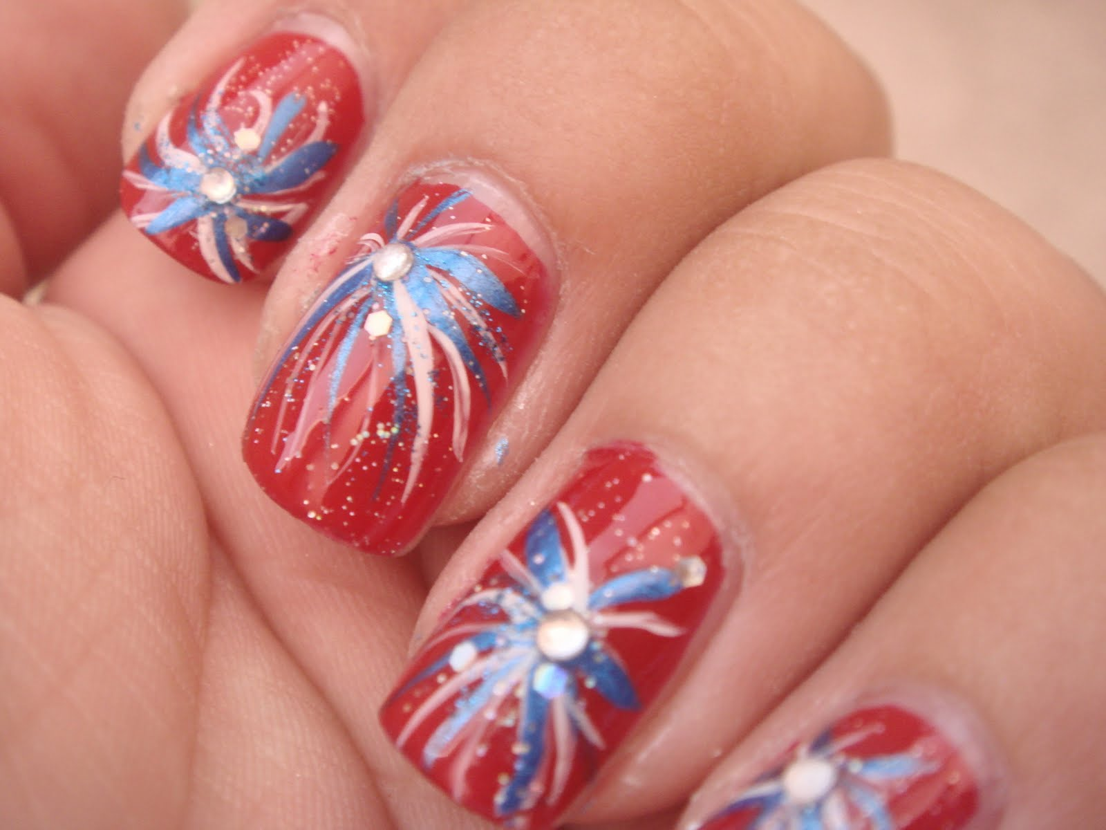 4th of july nail ideas 4th of july firecracker fireworks 4th of july firecracker fireworks nail design manicure red white and blue prinsesfo Choice Image