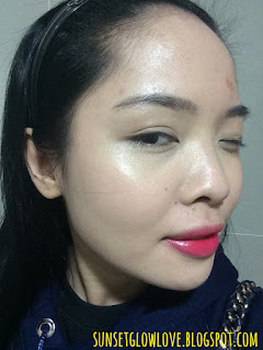 Laneige BB Cushion Pore Control full face swatch in fluorescent lighting