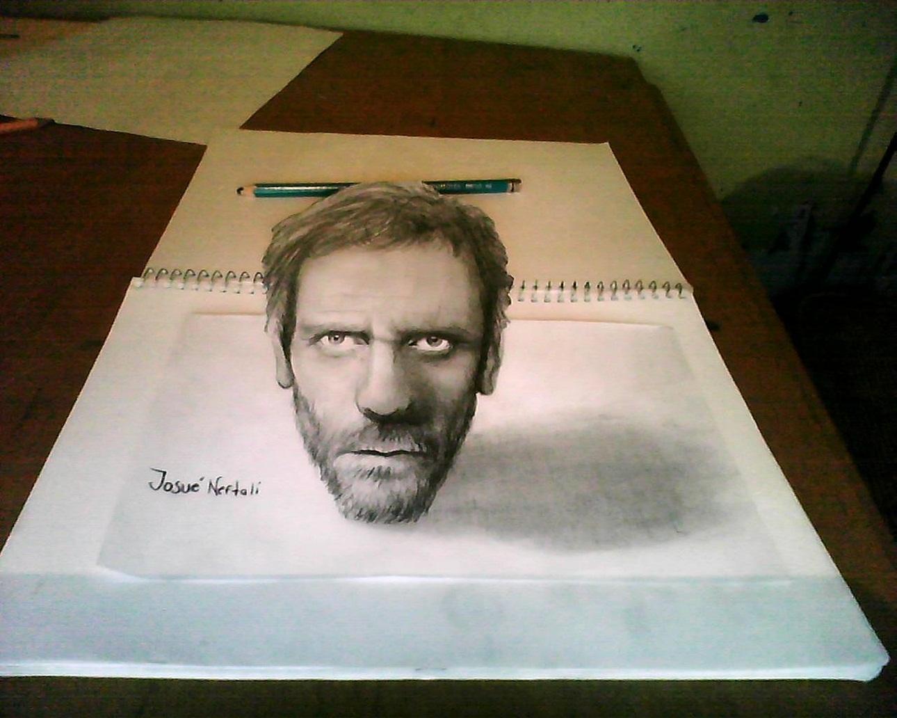 Dibujando en vivo Dr+house+dibujo+3d