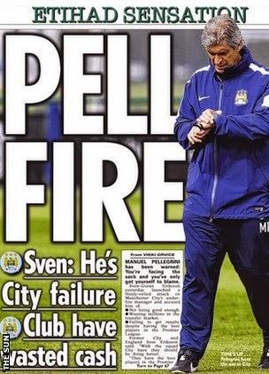 a warning for Manuel Pellegrini from former Man City boss Sven-Goran Eriksson