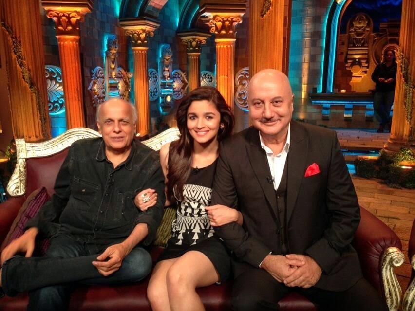 Mahesh and Alia Bhatt : First Guests on The Anupam Kher Show - Kuchh Bhi Ho Sakta Hai