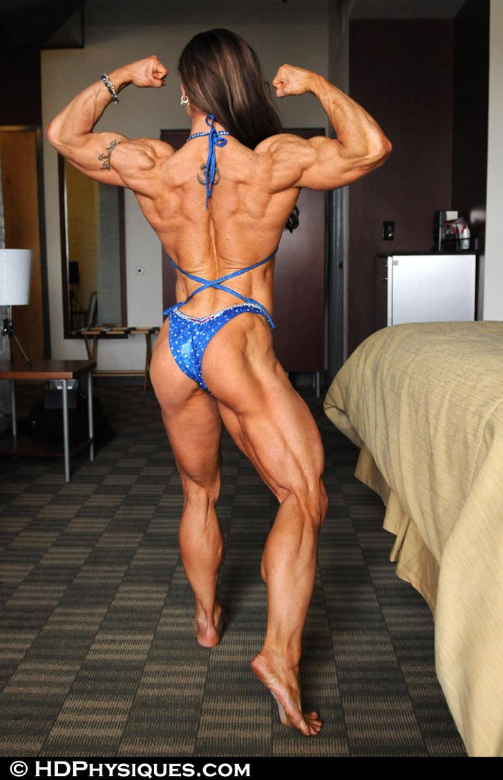 Branka Njegovec Flexing Her Biceps, Back And Muscular Calves