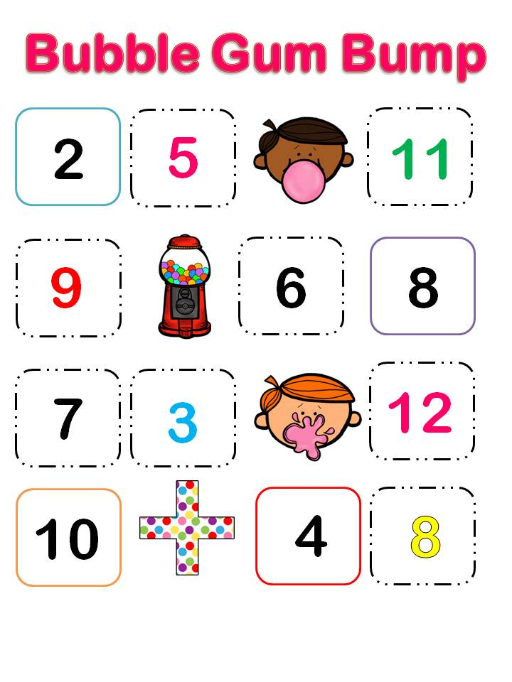 numbers game and bumpy Student who manages to count to the biggest number winsstudents can avoid saying numbers 2, 3, 5 and the numbers that can be divided by them variation(s): in addition to the previous task, students can also say bump instead of numbers that can be divided by 4.