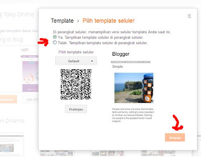 setting template mobile version 3