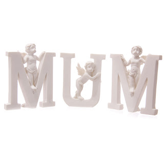 White Cherub MUM Letters - Mothers Day Gift