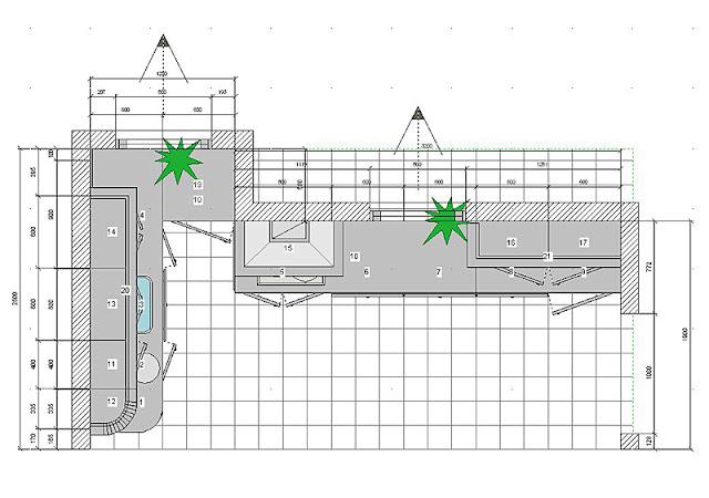 Кухня размером 10-12 метров у