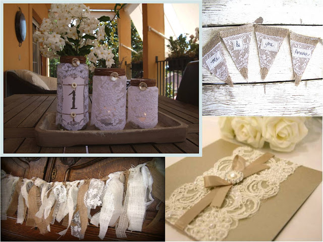 Lace touches to your Vintage theme