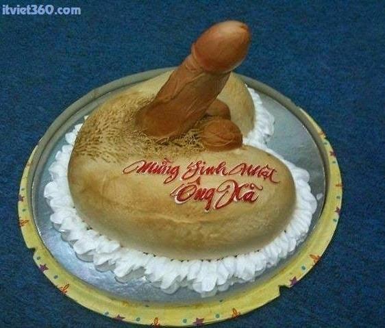 Hình ảnh những chiếc bánh kem sinh nhật bựa