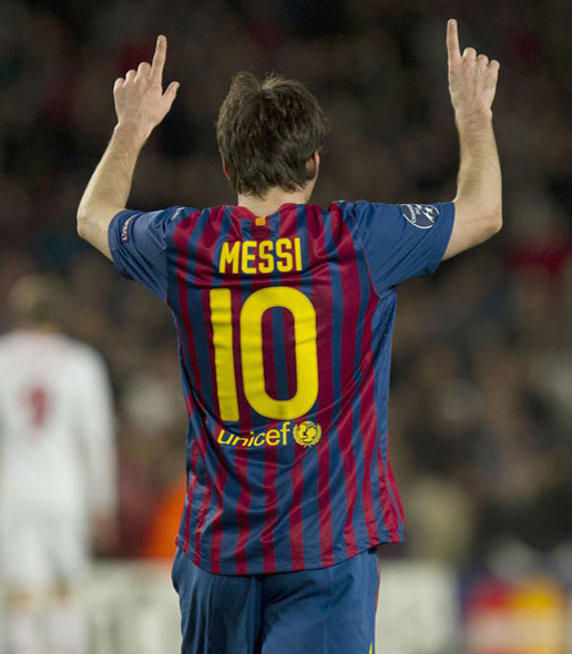 5 goles de Messi en liga de Campeones vídeo