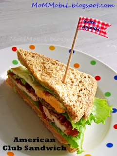 American Club Sandwich home made