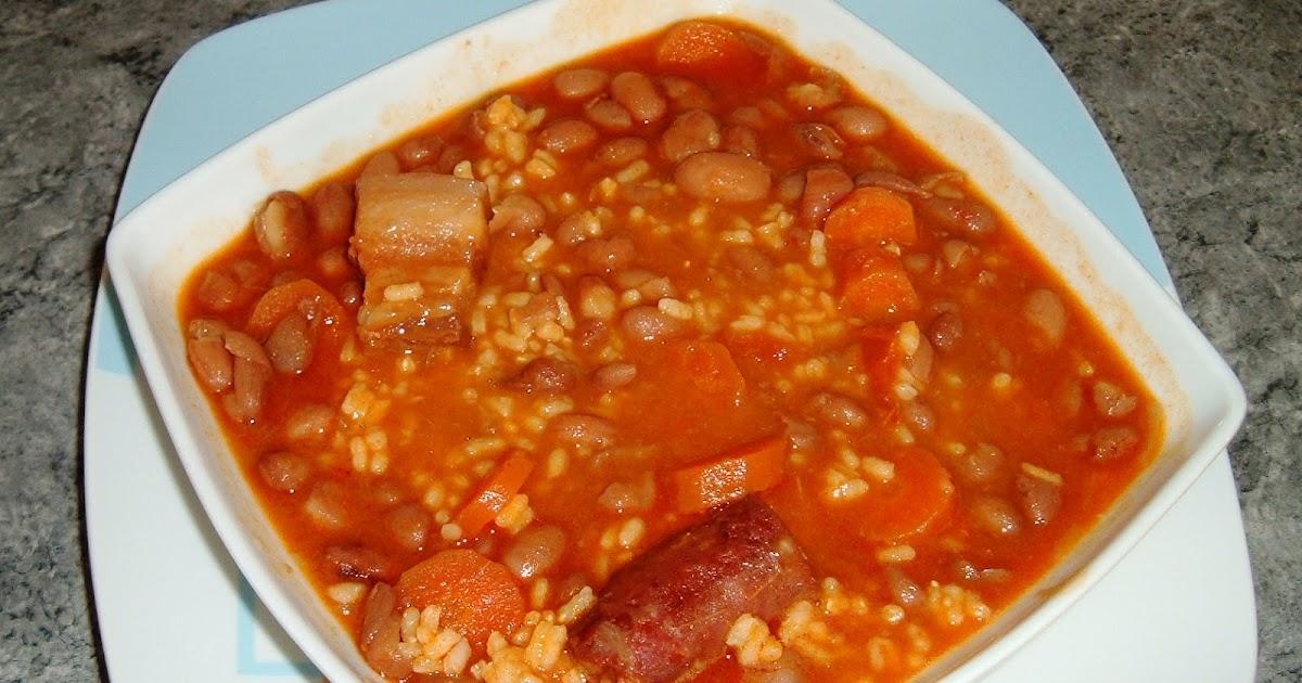 Las recetas caseras de may judias pintas con arroz - Judias pintas con arroz olla express ...