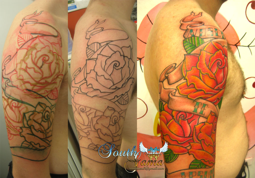South Gama Tattoo: Rosas Old