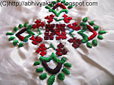 sindhi embroidery and satin stitch