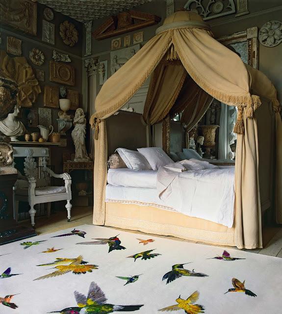 alfombra colibris de lujo
