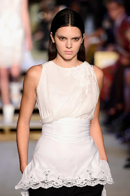 Kendall Jenner is unrecognisable with bleached brows on the Givenchy SS16 NYFW Runway