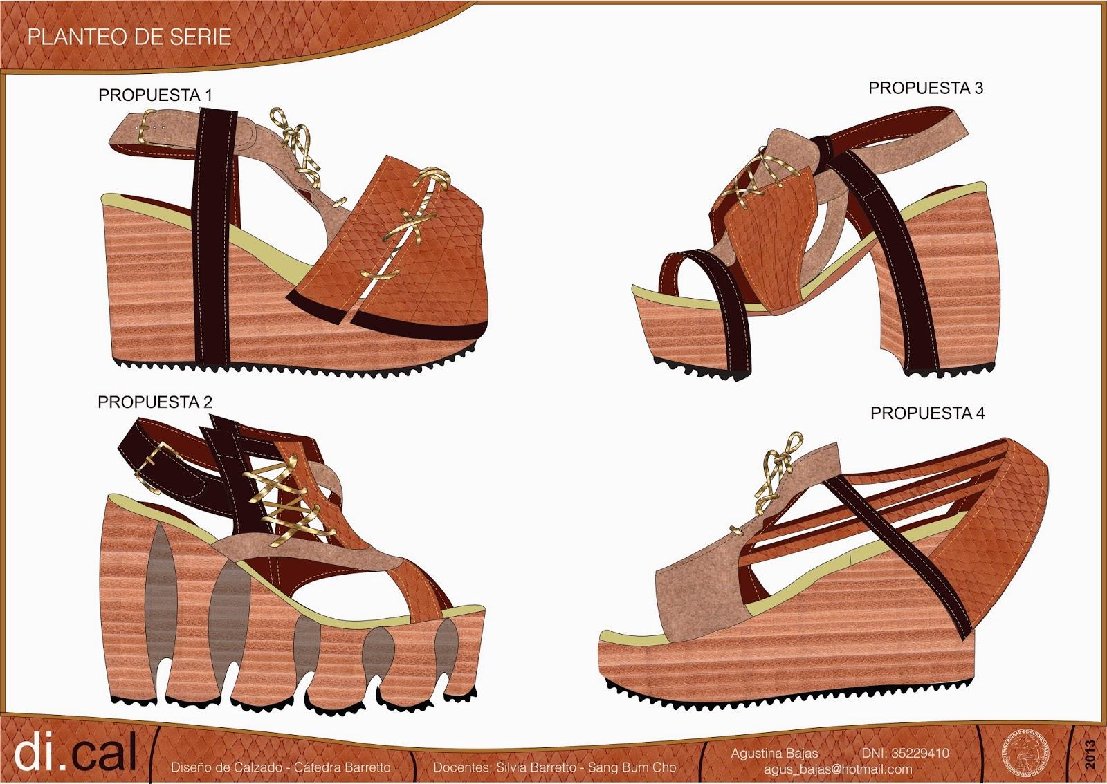 Tp dise o de calzado agustina bajas porfolio for Diseno de zapatos