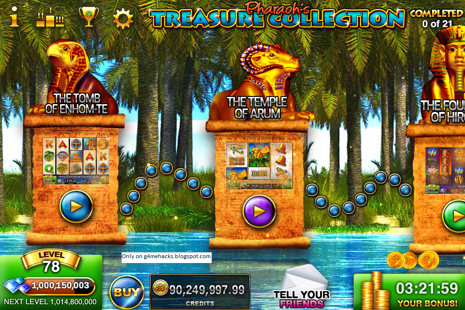Pharaohs way slots android cheat