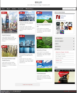 MXfluity Responsive Blogger Template (Right Sidebar)
