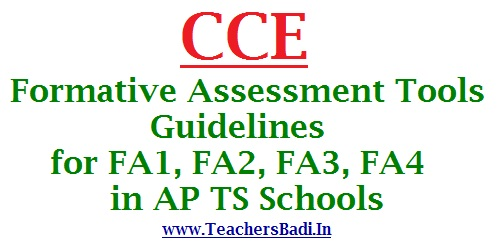 CCE Formative Assessment Tools and Guidelines for FA1, FA2, FA3 ...