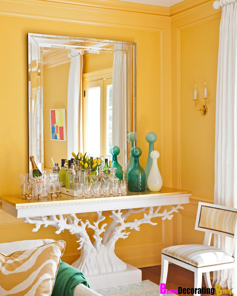 L 39 univers d 39 in s today i love sunny colors for Living room yellow walls