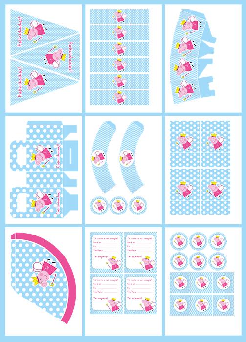 Peppa Pig Printable Birthday Decorations ~ Free printable peppa pig party invitations ideas