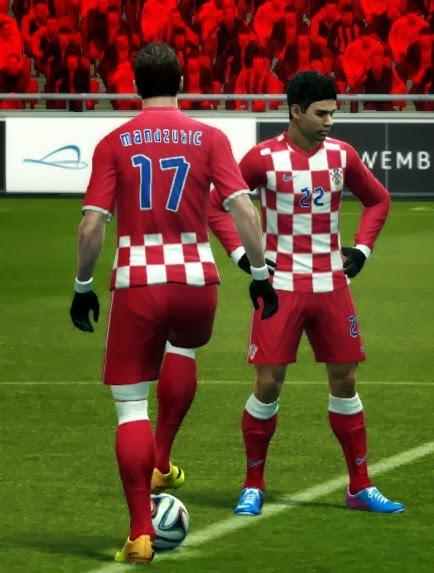 Download PES 2013 Croatia 2014 World Cup Home Kit Yazid Louasli