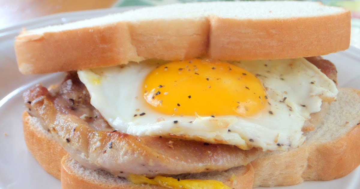 Welcome Home Blog: Pork Chop and Fried Egg Sandwich