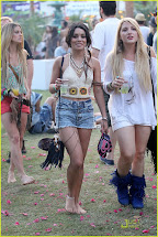 Vanessa Hudgens Coachella Barefoot