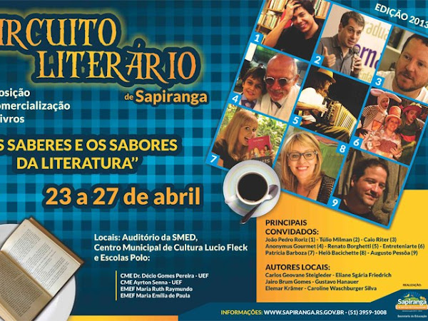 Circuito Literário de Sapiranga 2013: Os Saberes e os Sabores da Literatura