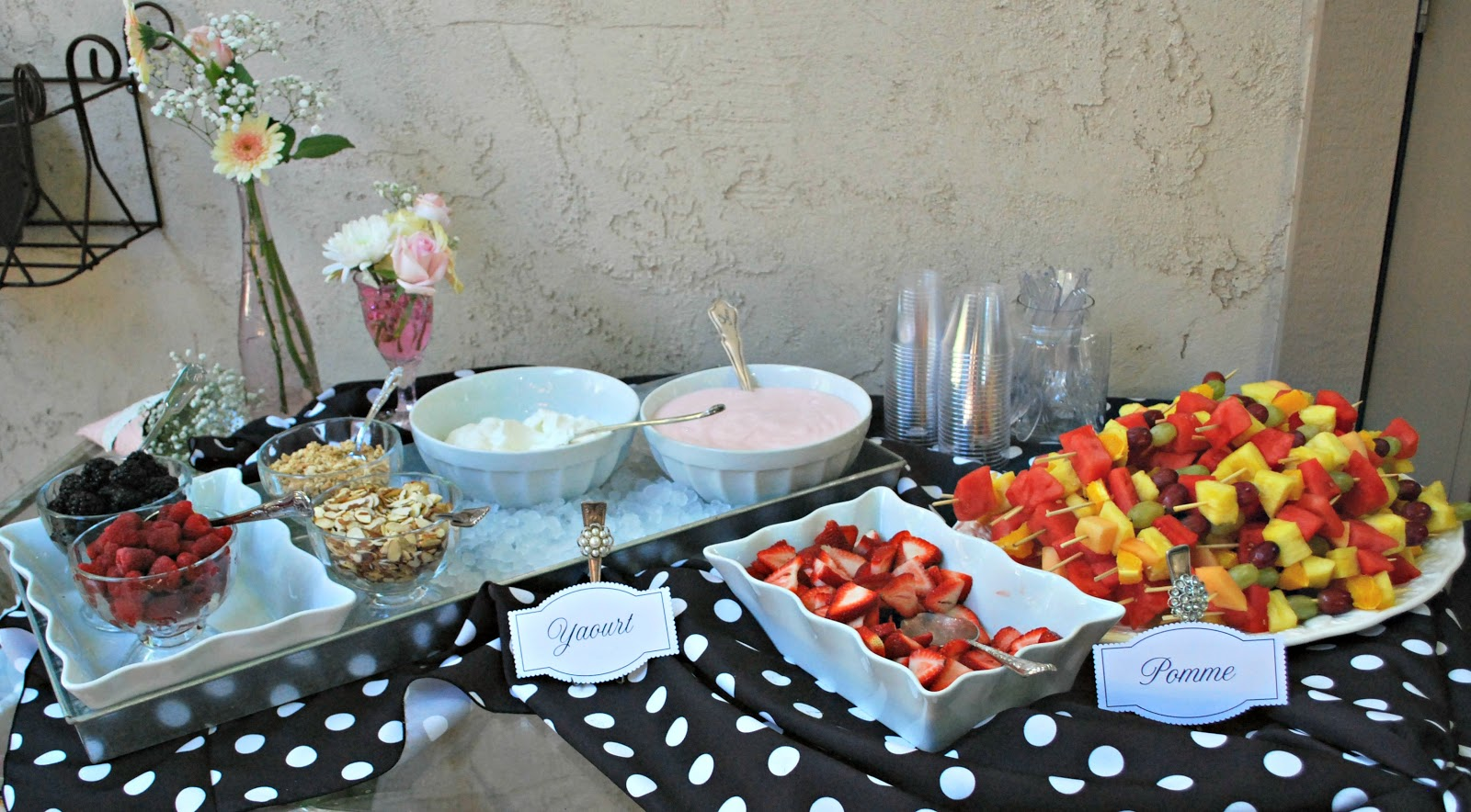 baby shower food table set up tables set up in the backyard