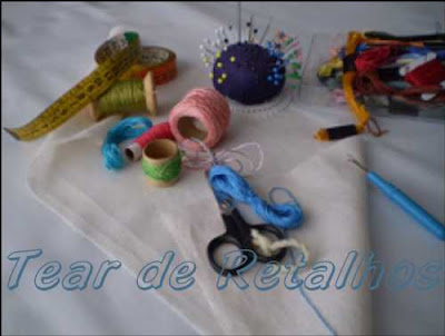 Alguns Materiais utilizados no bordado.