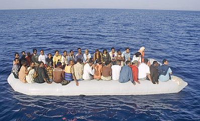 Lampedusa: boatload of refugees #0