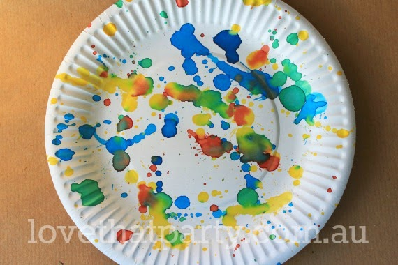 diy, party ideas, girls party ideas, boys party ideas, art party, paper plates