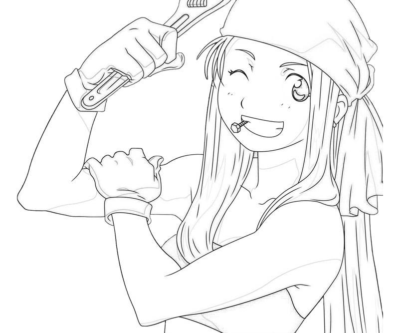 fullmetal alchemist coloring pages Fullmetal Alchemist Winry Rockbell Smile | Tubing fullmetal alchemist coloring pages