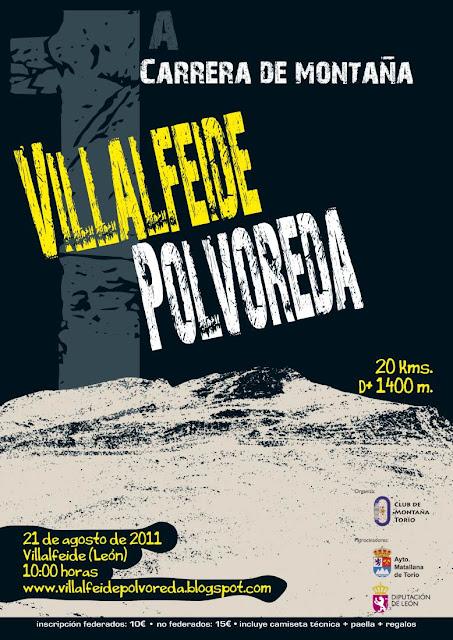 1ª carrera de montaña Villalfeide - Polvoreda (20 Km) VDblog