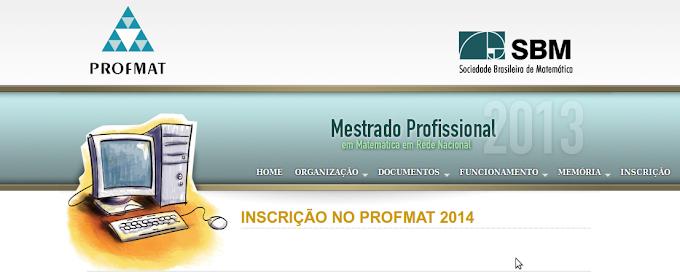 SBM abre inscrições para o PROFMAT 2014