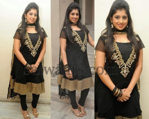 Jeevitha Black Salwar Kameez
