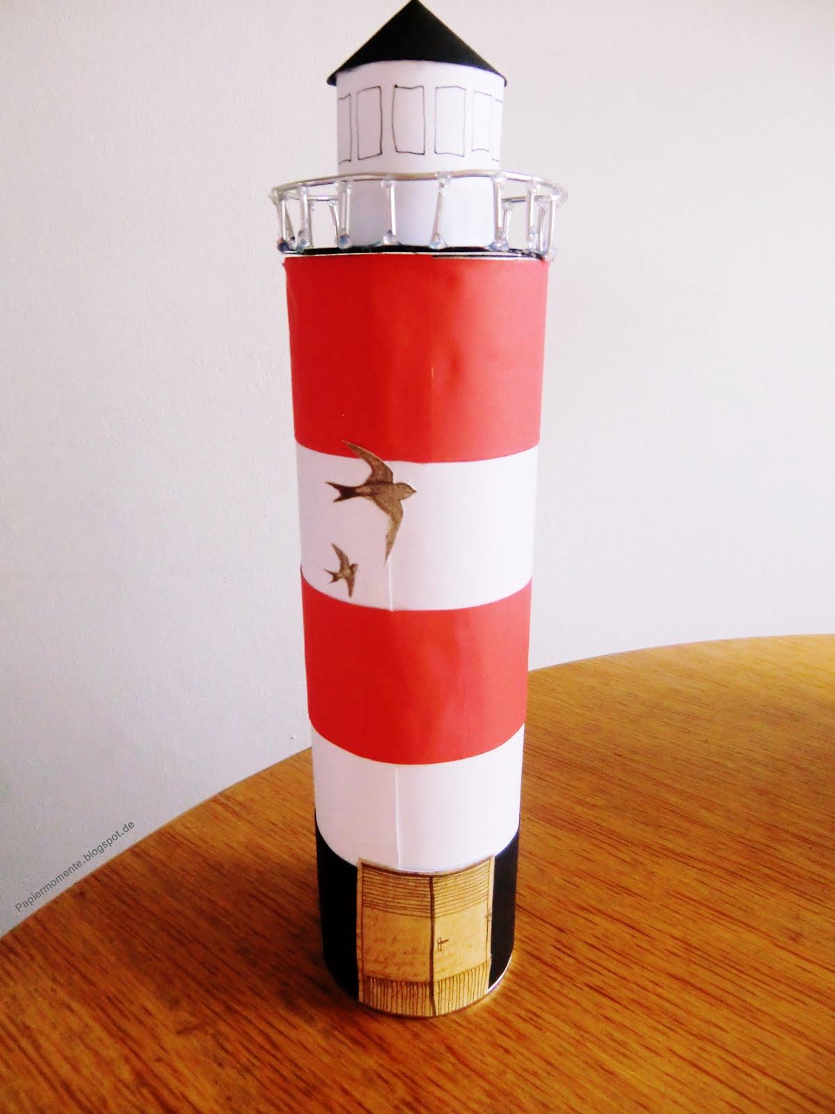 Wiola 39 s papiermomente leuchtturm selbst gestalten for Leuchtturm basteln