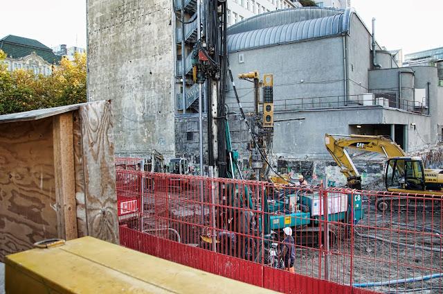 Baustelle Upper West, Hotel, Büro, Einzelhandel, (ursprünglich: Atlas Tower), geplante Höhe: 118 Meter, Breitscheidplatz, 10623 Berlin, 24.10.2013