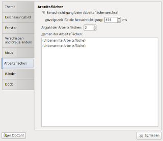 Konfigurationsprogramm ObConf