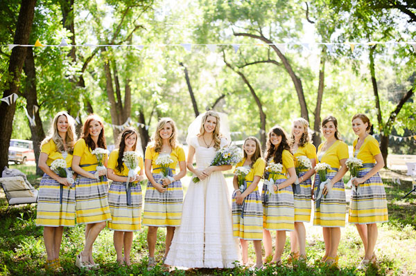 Yellow bridemaid dresses
