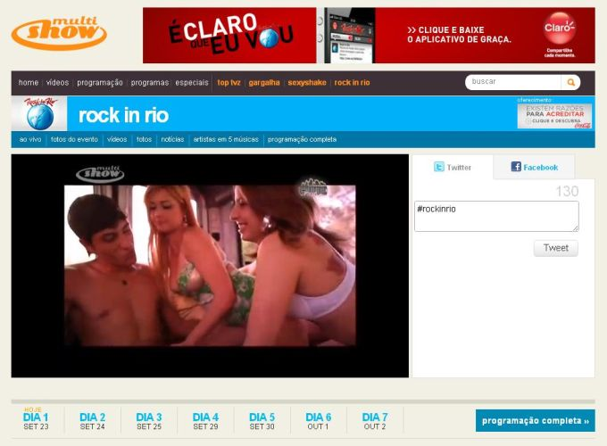 rock in rio multishow cenas sexo