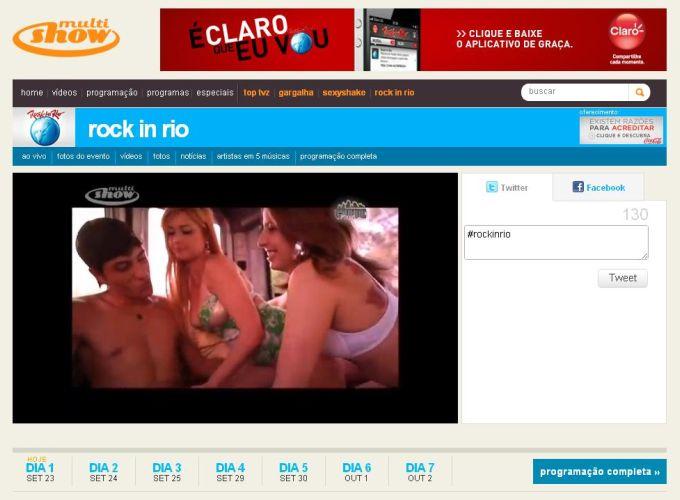 rock in rio multishow cenas sexo