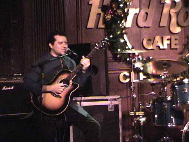 Tony P Guitar Tony Pulizzi Guitar Player Tony Pulizzi singing at the Hard Rock Cafe in Cleveland, Ohio