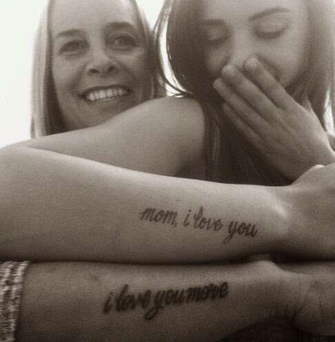 ♥ ♫ ♥ Cute mother-daughter tattoos. Or for anyone who loves one another. ♥ ♫ ♥