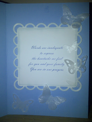 sympathy, card, inside, butterfly, Memory Box, Spellbinders, Lacey Squares