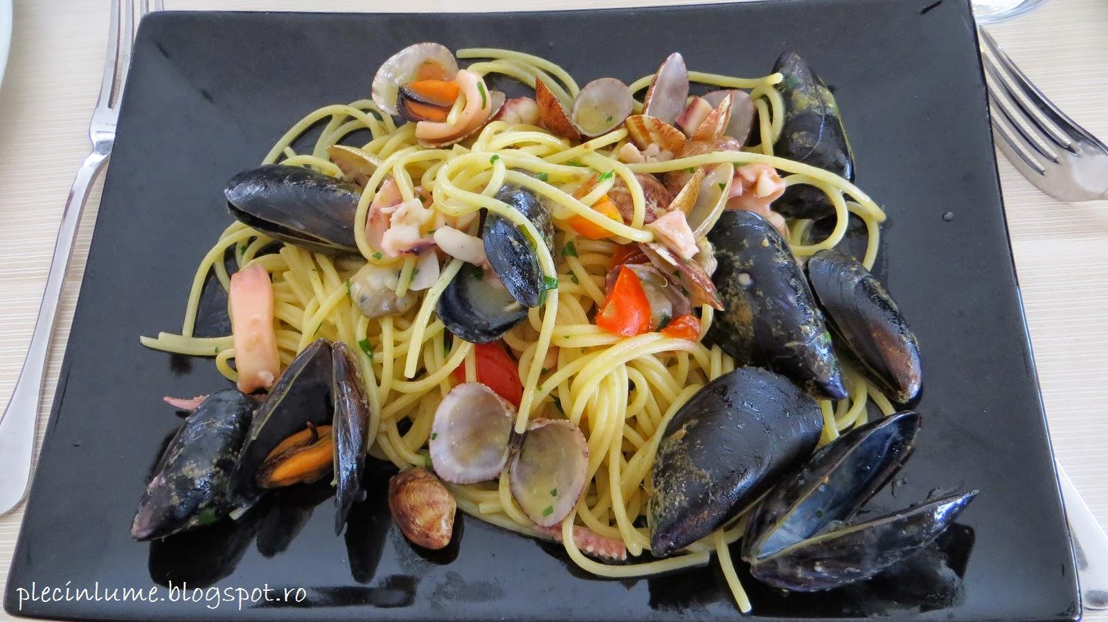 Paste cu fructe de mare in Amalfi